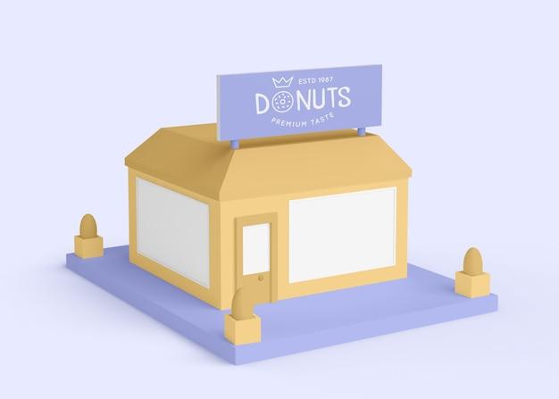 Reklama zewnętrzna sklepu pączki