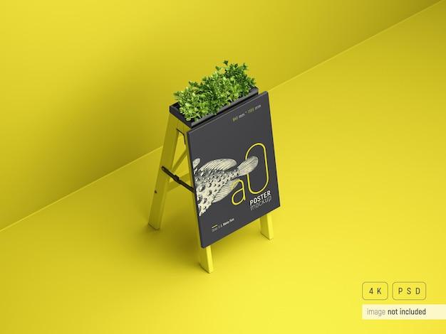 Reklama zewnętrzna stojak mockup widok perspektywiczny