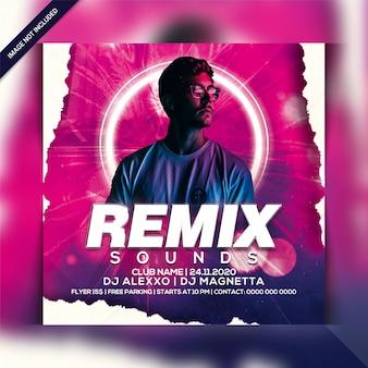 Remiks sound party flyer