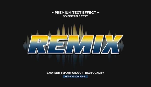 Remiks szablon efektu tekstowego 3d