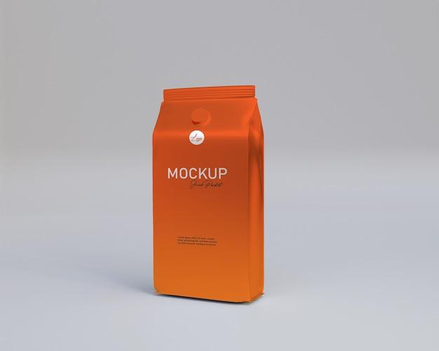 Rendering 3d realistyczna makieta opakowania soku