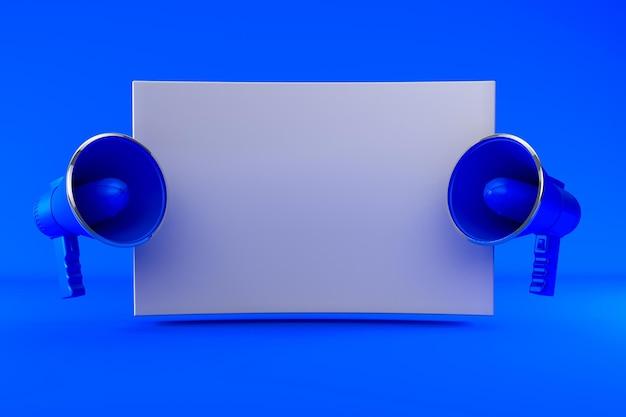 Renderowania 3d dwa megafon renderowania odizolowane
