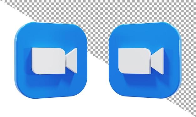 Renderowania 3d ikona logo zoom izometryczny