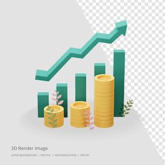 Renderowania 3d koncepcji inwestycji biznesowych
