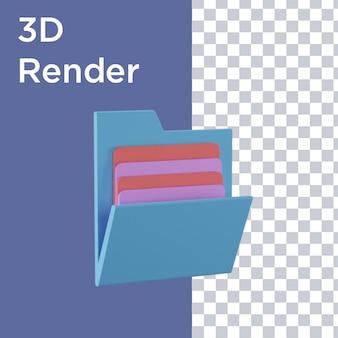 Renderowania 3d książki zegarowej i ołówka widok z góry