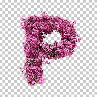 Renderowania 3d litery bougainvillea p.
