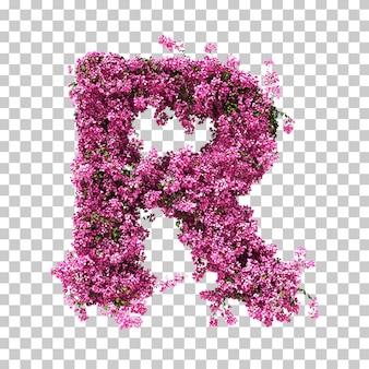 Renderowania 3d litery bougainvillea r.