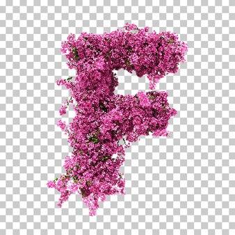 Renderowania 3d litery f bougainvillea