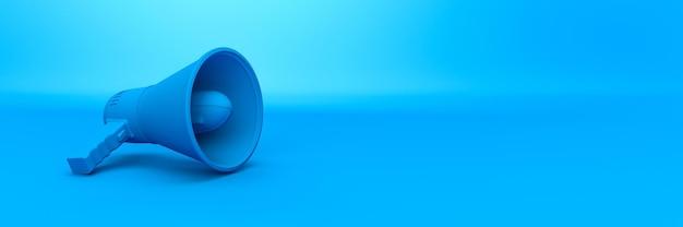 Renderowania 3d megafon renderowania 3d izolowane