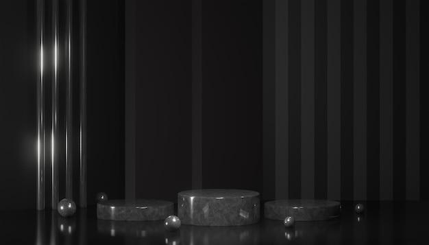 Renderowania 3d nowoczesny wyświetlacz podium lub etap prezentacji