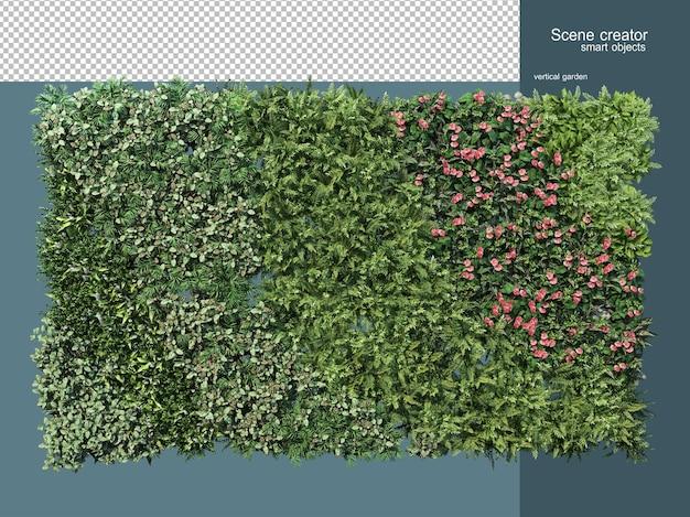 Renderowania 3d ogrodzenia roślin na białym tle