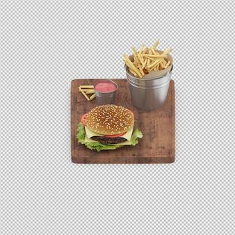 Renderowania 3d renderowania burger