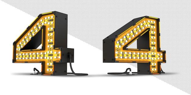 Renderowania 3d światła led numer