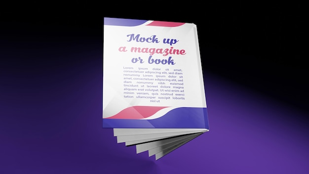 Renderowanie 3d dla makiety latającej okładki książki