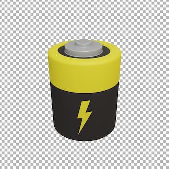 Renderowanie 3d ilustracji baterii