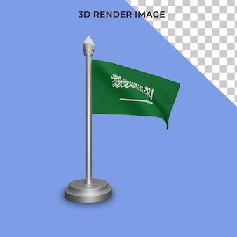 Renderowanie 3d koncepcji flagi arabii saudyjskiej święto narodowe arabii saudyjskiej premium psd