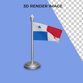 Renderowanie 3d koncepcji flagi panamy święto narodowe panamy