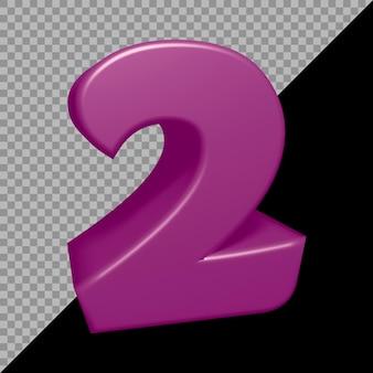 Renderowanie 3d liczby 2