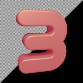 Renderowanie 3d liczby 3