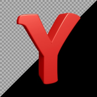 Renderowanie 3d litery alfabetu y