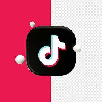 Renderowanie 3d logo tiktok