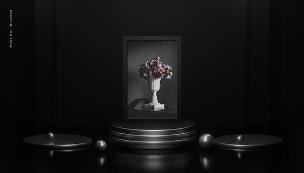 Renderowanie 3d makieta ramki na zdjęcia