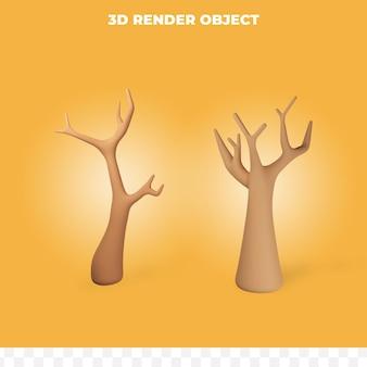 Renderowanie 3d Martwego Drewna Premium Psd