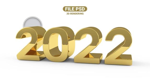 Renderowanie 3d numeru 2022