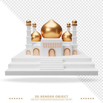 Renderowanie 3d pięknego realistycznego meczetu islamskiego