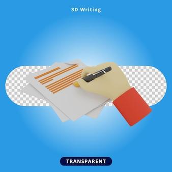 Renderowanie 3d pisanie piórem ilustracja