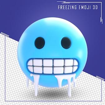 Renderowanie 3d płaczu emoji na białym tle