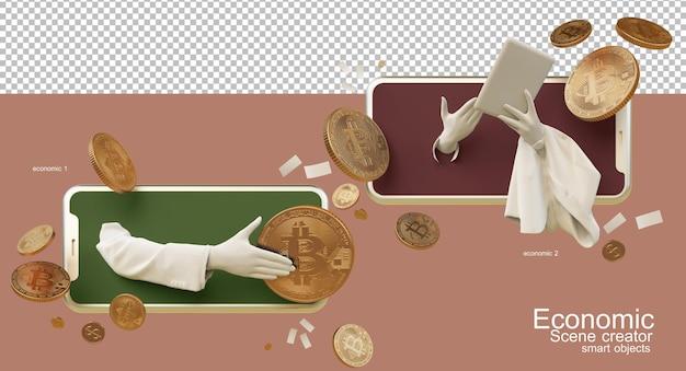 Renderowanie 3d porozumienia składu finansowego