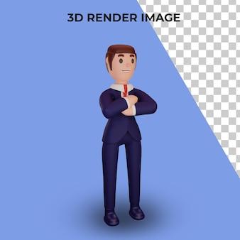 Renderowanie 3d postaci z koncepcją biznesową