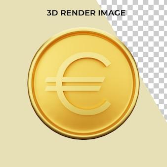 Renderowanie 3d premii za walutę euro psd