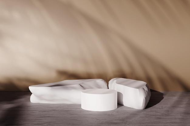 Renderowanie-3d-produktu-wyświetlania-z-cieniami-w-ścianie