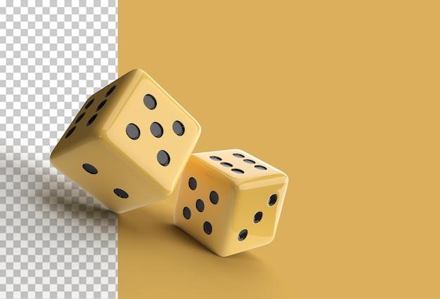 Renderowanie 3d spadające kostki kasynowe