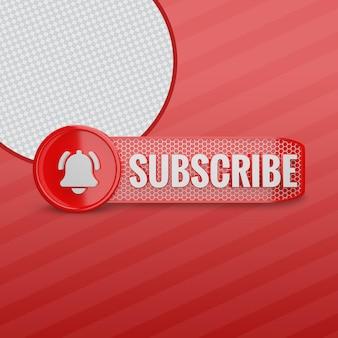 Renderowanie 3d subskrybenta youtube