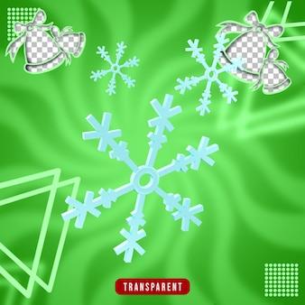 Renderowanie 3d świątecznego śniegu