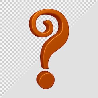 Renderowanie 3d symbolu znaku zapytania