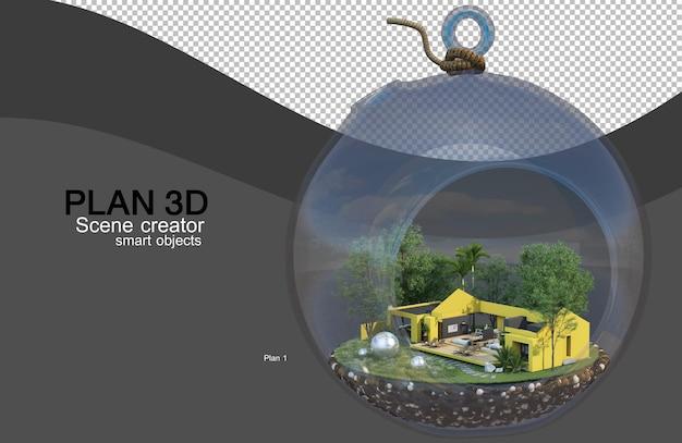 Renderowanie 3d układów domów i budynków