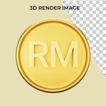 Renderowanie 3d waluty ringgit