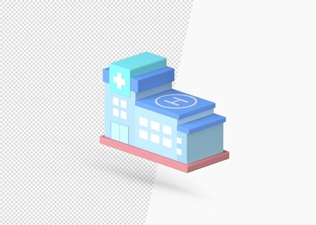 Renderowanie 3d wysokiej jakości realistycznego modelu szpitala
