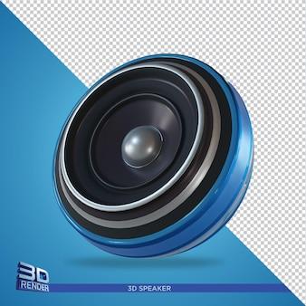 Renderowanie 3d z niebieskim głośnikiem dla elementu flyer party