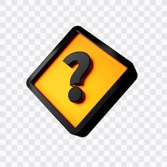 Renderowanie 3d znaku zapytania