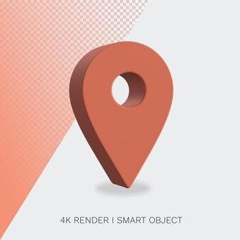 Renderowanie ikony lokalizacji w ścieżce przycinającej w kolorze czerwonym
