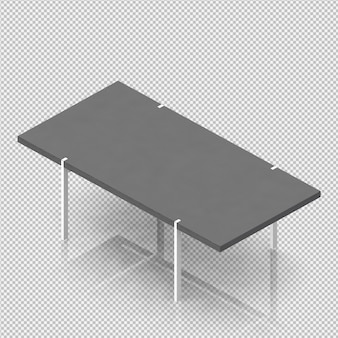 Renderowanie izometryczne tabeli 3d