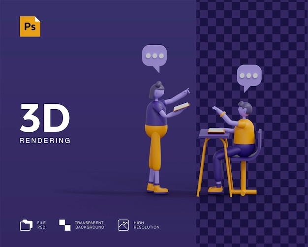 Renderowanie koncepcji 3d learn anywhere