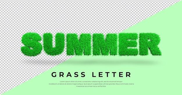 Renderowanie listów letniej trawy
