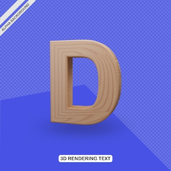 Renderowanie litery 3d efekt tekstowy d