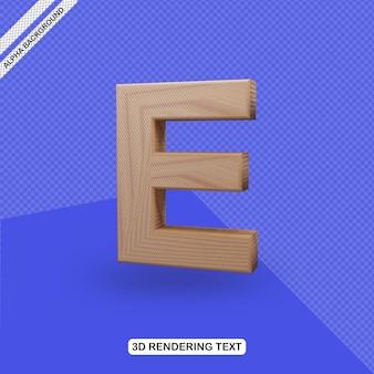 Renderowanie litery e z efektem tekstowym 3d